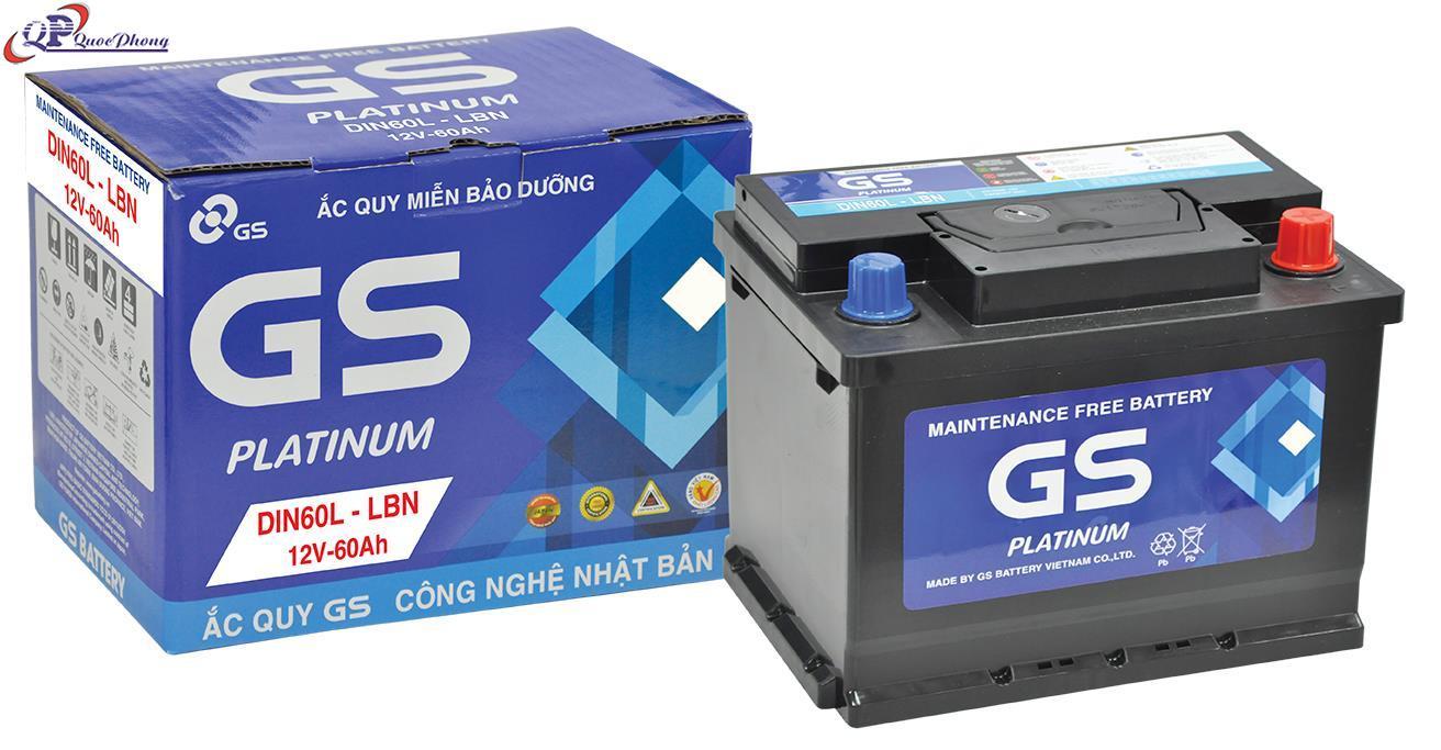 Ắc quy GS MF DIN60R (12V-60AH)