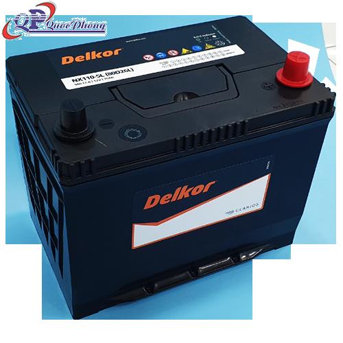 ẮC QUY DELKOR NX110-5L | NX110-5R(80D26L)
